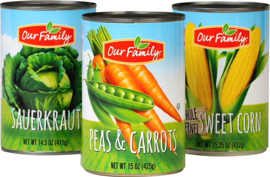 Our Family Canned Vegetables