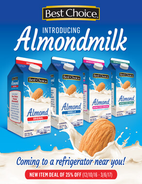 Best Choice Almond Milk Sales Sheet