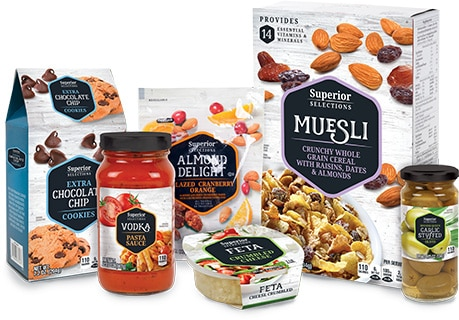 Superior Selections Products Packaging